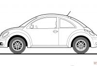 Vw Beetle Coloring Pages - Volkswagen Beetle 2009 Coloring Page Gallery