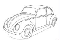 Vw Beetle Coloring Pages - Volkswagen Beetle Coloring Page Gallery