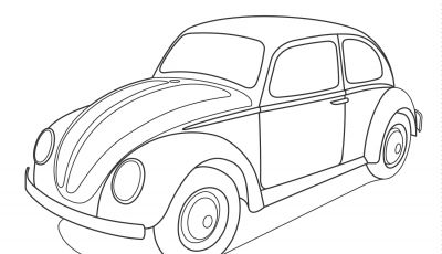 Volkswagen Beetle Coloring Pages - Volkswagen Beetle Coloring Page Printable
