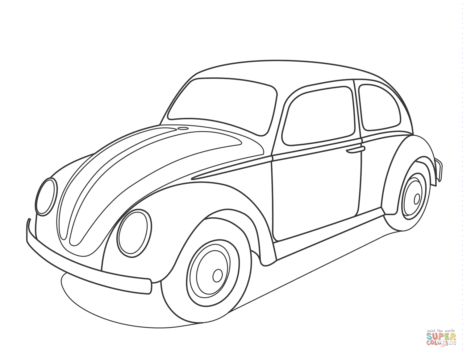 Volkswagen Beetle Coloring Pages to Print 6s - To print for your project