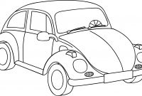 Volkswagen Beetle Coloring Pages - Volkswagen Drawing at Getdrawings Printable