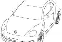 Vw Beetle Coloring Pages - Vw Beetle Coloring Pages Beautiful Vw Volkswagen Beetle Perspective to Print