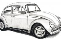 Volkswagen Beetle Coloring Pages - Vw Beetle Drawing Clipartxtras Printable