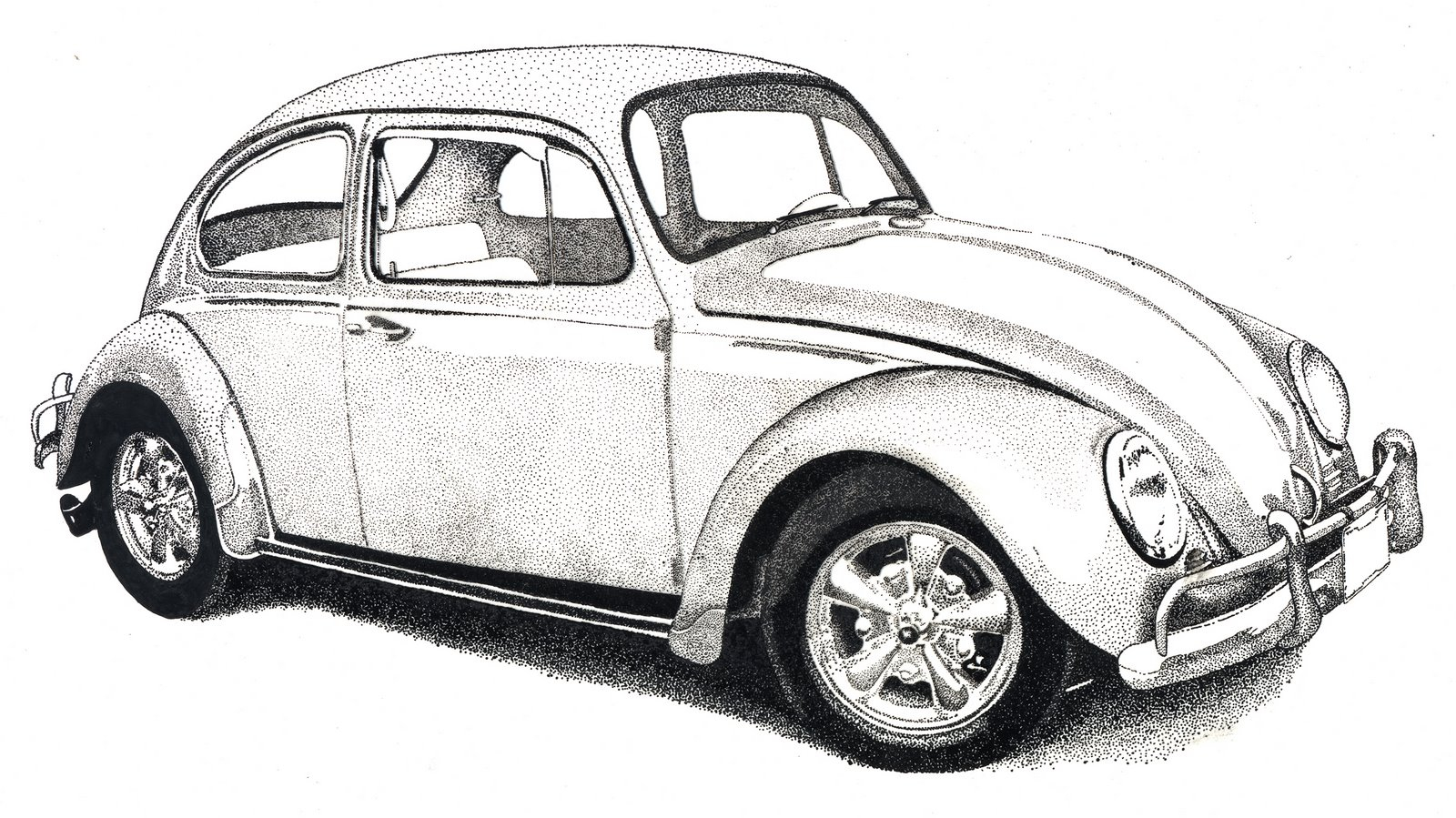 Volkswagen Beetle Coloring Pages