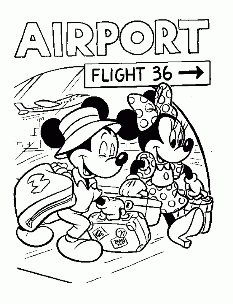 Walt Disney World Coloring Pages Gallery 20s - Free Download