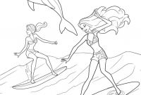 Coloring Pages Barbie - with Barbie Coloring Pages Mermaid Coloring Gallery