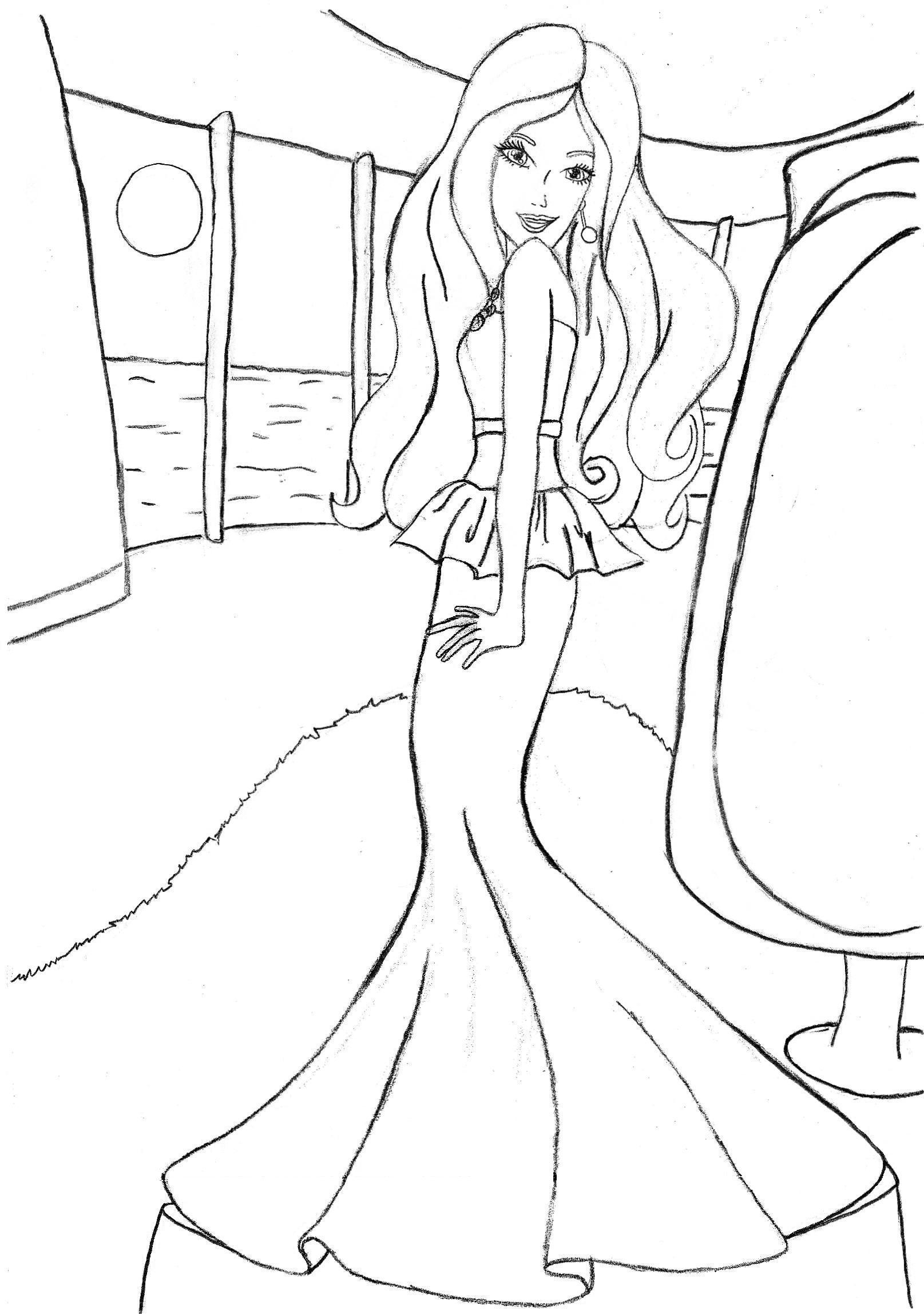 Barbie Coloring Pages for Girls Free Printable Barbie Download ...