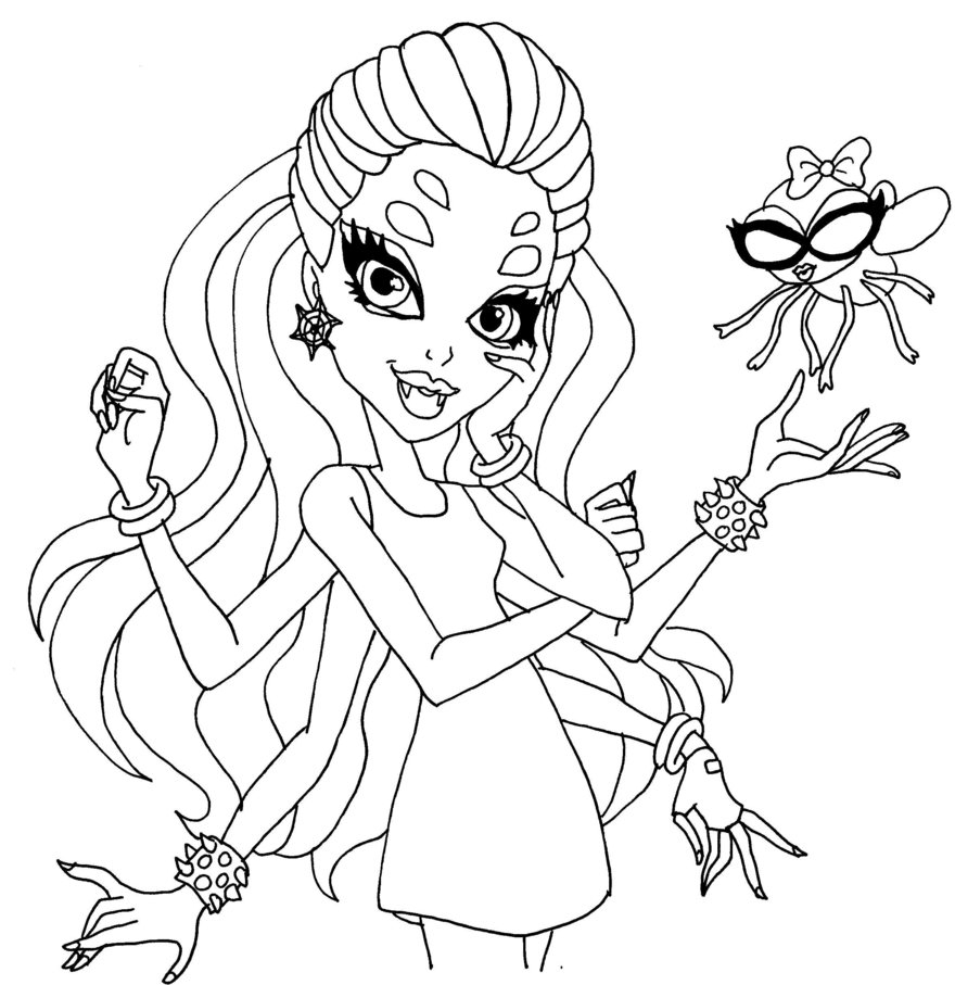 Wydowna Spider by Elfkena On Deviantart to Print Of Monster High Coloring Pages Monster High Coloring Page All Collection