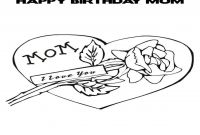 Happy Birthday Mommy Coloring Pages - 1 Mom Coloring Pages Happy Birthday Grig3 to Print