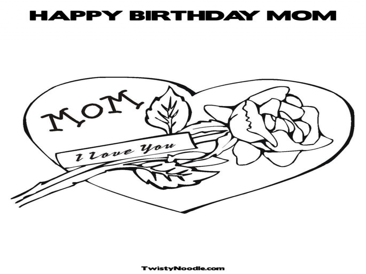 1 Mom Coloring Pages Happy Birthday Grig3 to Print Of Happy Birthday Mom Printable Coloring Pages Printable