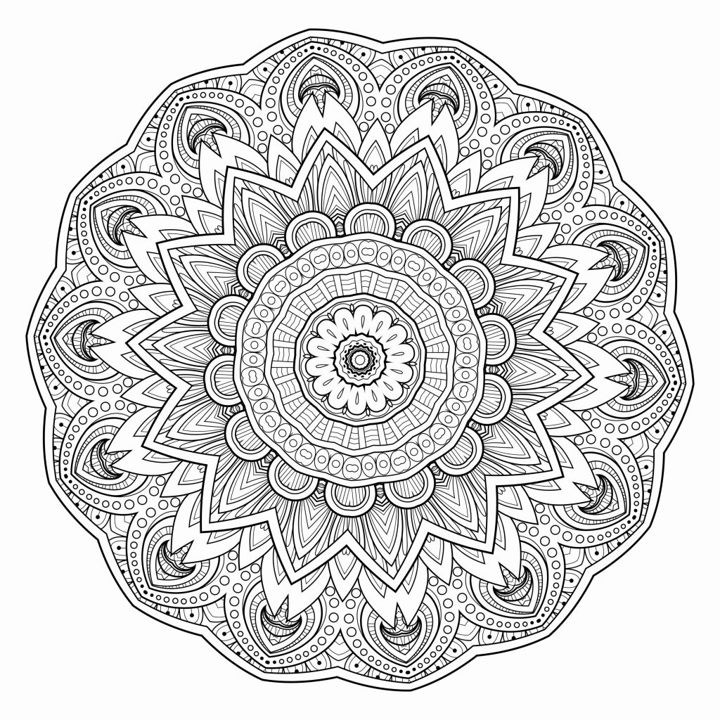 10 Mandala Coloring Pages Printable Collection Of Modern Intricate Mandala Coloring Pages Coloring for Good Mandala to Print