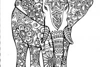Elephant Mandala Coloring Pages - 44 Best S Elephant Mandala Coloring Pages Download