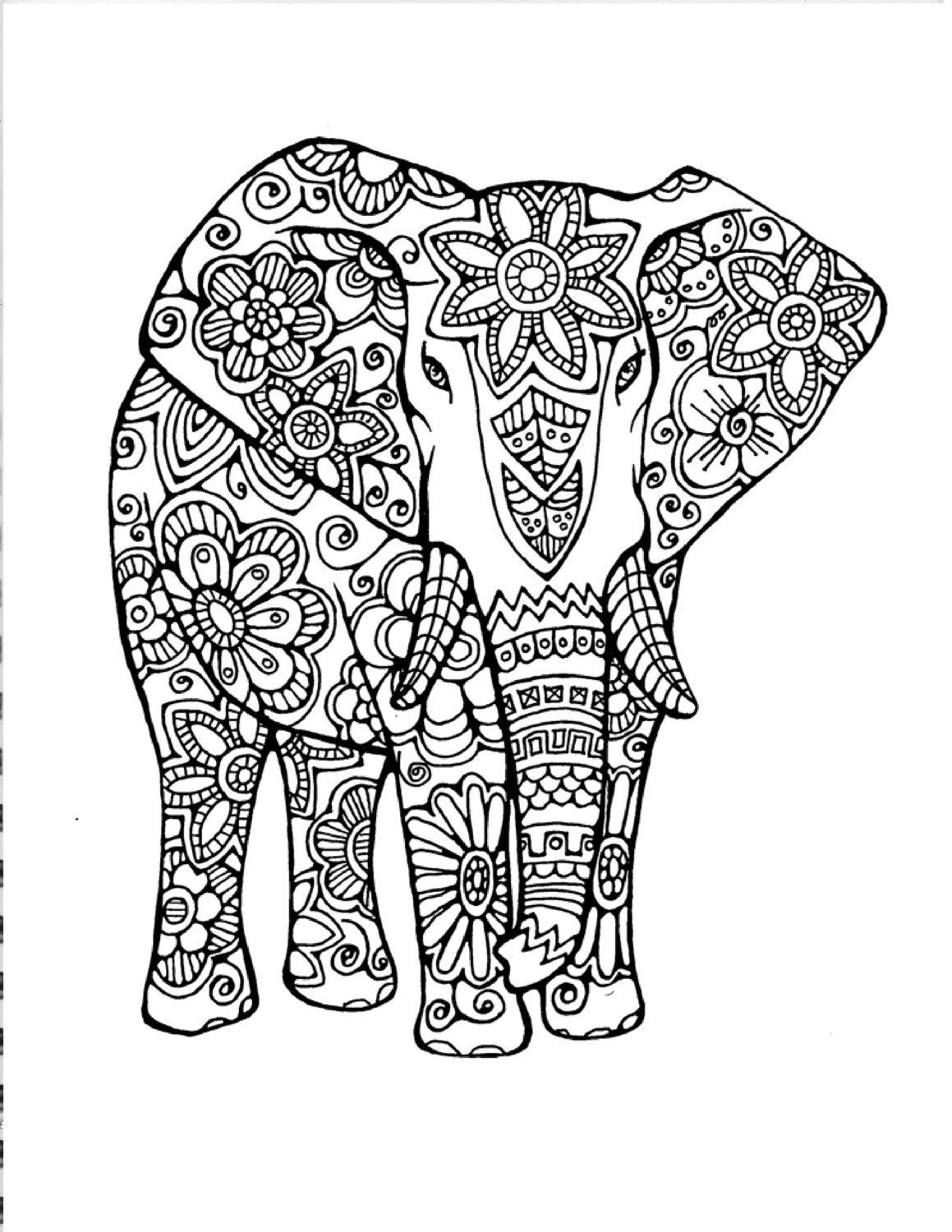 Elephant Mandala Coloring Pages Collection Free Coloring