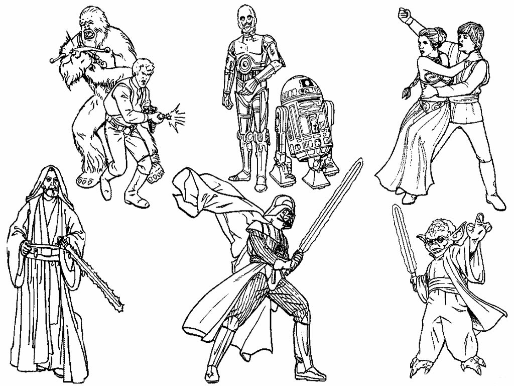 6 Star Wars Characters Free Coloring Page Kids Movies Noticeable to Print Of Coloring Pages Of Star Wars Free Coloring Pages Star Wars Printable