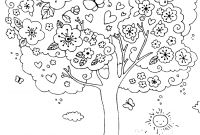 Tree Coloring Pages - A Nice Blossoming Tree Coloring Page Coloring Pages for Kids and Gallery