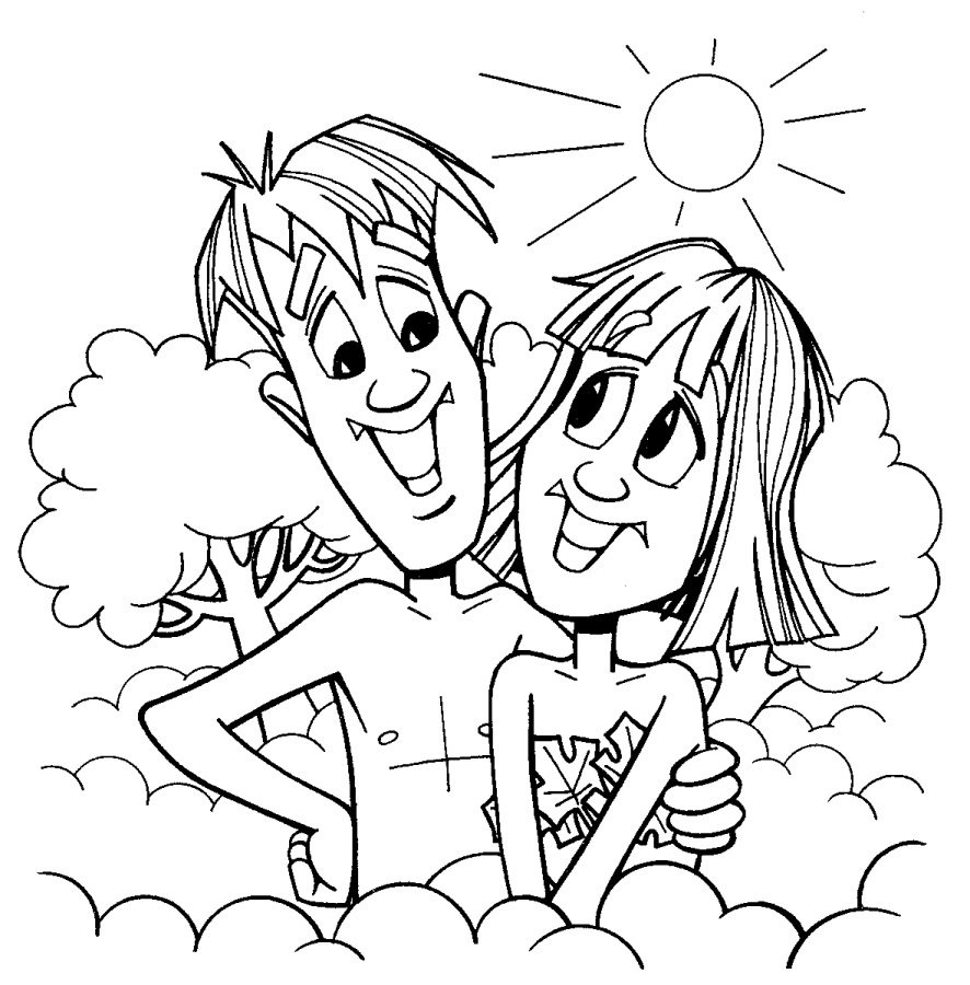 Adam & Eve Coloring Page First Human Being Earth Adam and Eve to Print Of And Eve Coloring Pages Coloring Pages Download