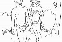 Adam and Eve Coloring Pages - Adam and Eve Bible Coloring Pages Printable Printable