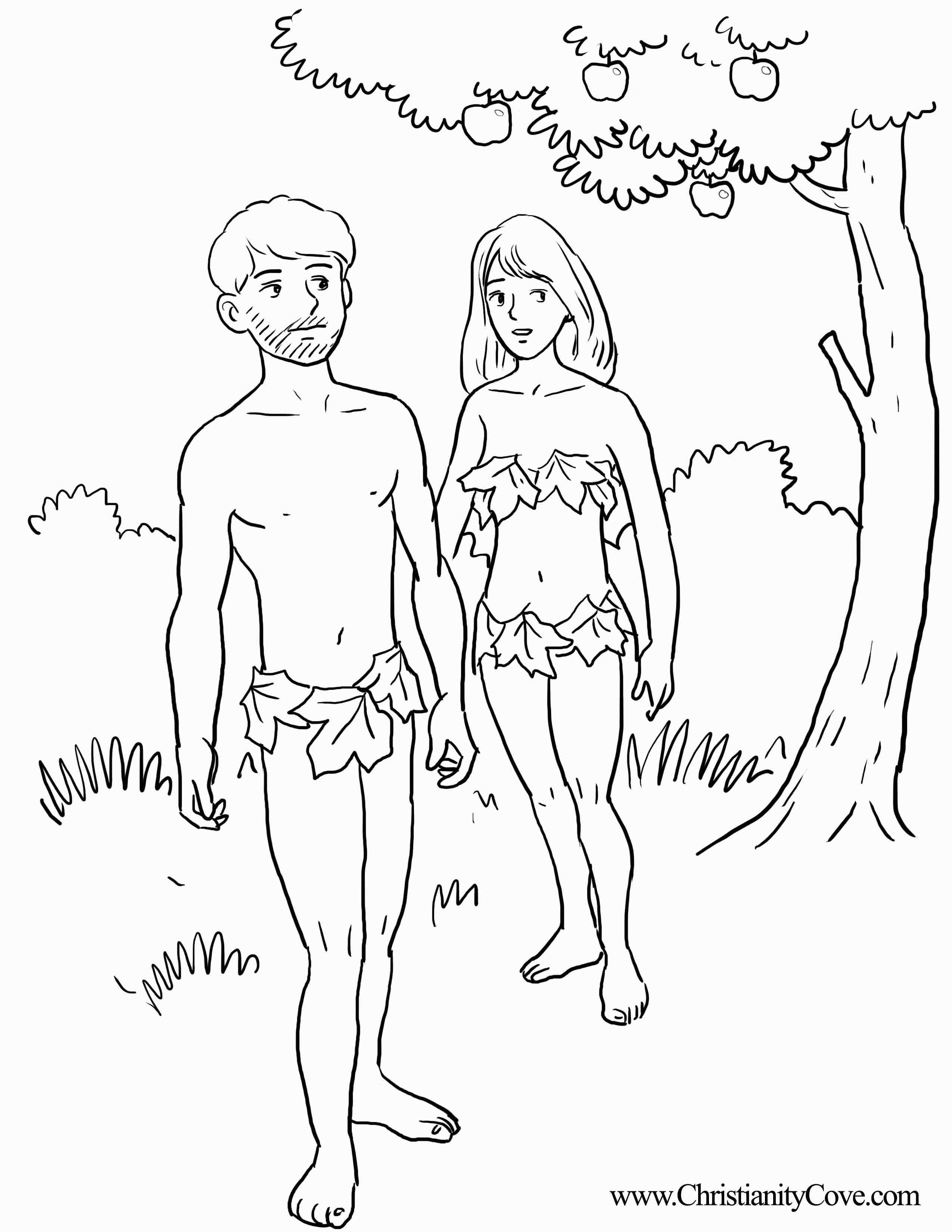 Adam and Eve Bible Coloring Pages Printable Printable Of And Eve Coloring Pages Coloring Pages Download