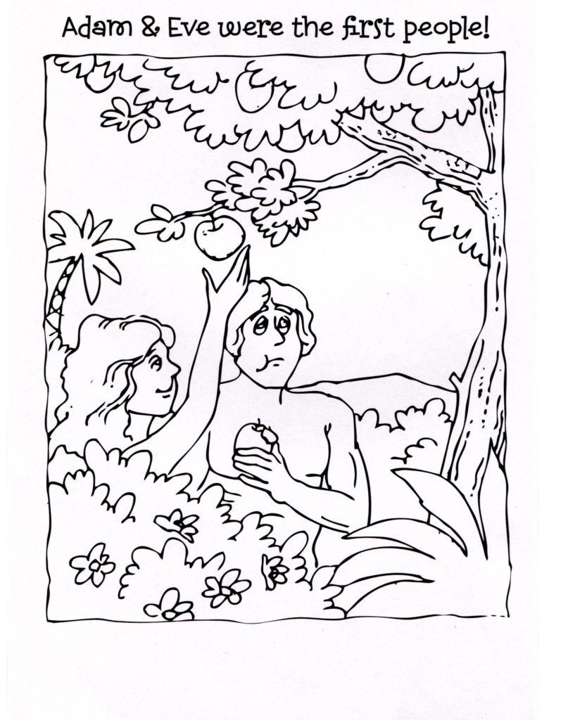 Adam and Eve Coloring Pages for Kids Collection Of And Eve Coloring Pages Coloring Pages Download
