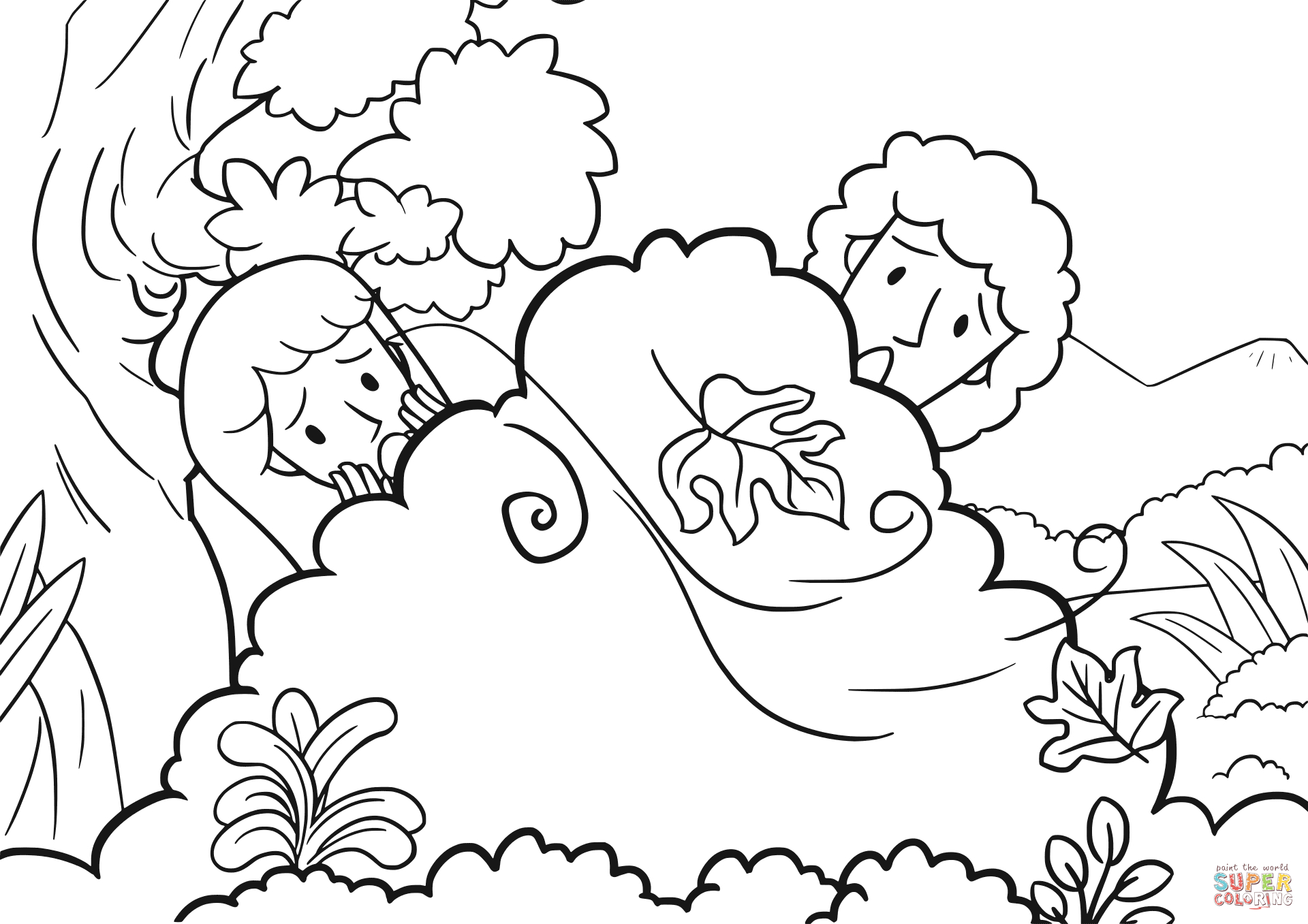 Adam and Eve Hid From the Lord God Among the Trees Of the Garden Collection Of And Eve Coloring Pages Coloring Pages Download