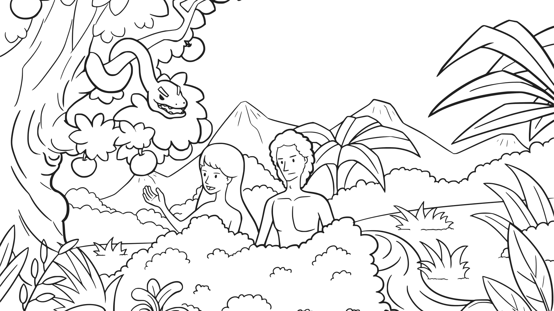 Adam and Eve Were Called to Rule Creation Coloring Pages Free Collection Of And Eve Coloring Pages Coloring Pages Download