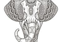 Elephant Mandala Coloring Pages - Adult Coloring Pages Free and Printable Download