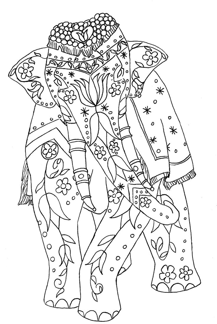Adult Mandala Coloring Pages Elephant 80 Collection Of Elephants For Adults