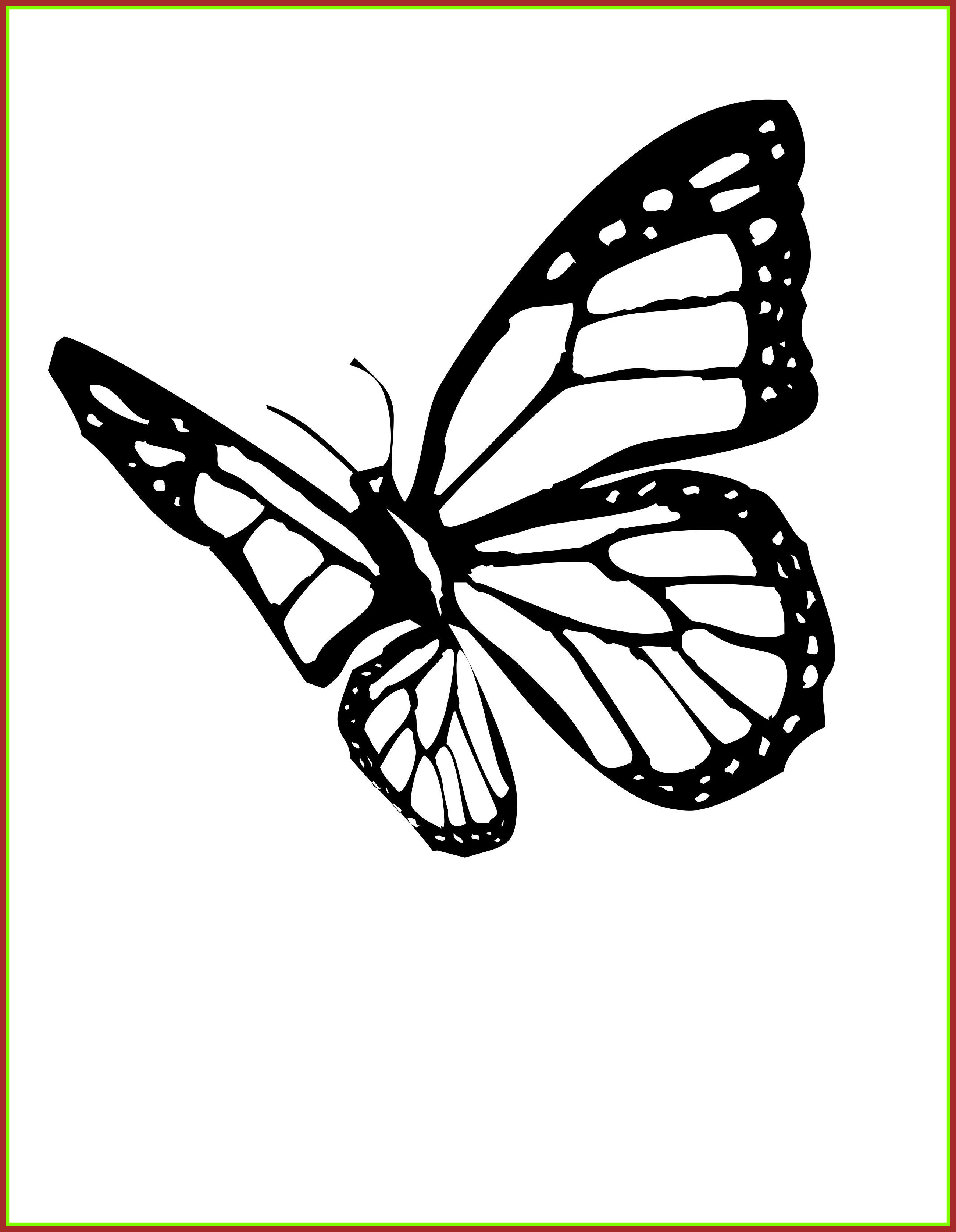 Amazing Monarch butterflies Coloring Page butterfly and Insect Collection Of Detailed Coloring Pages for Adults Collection