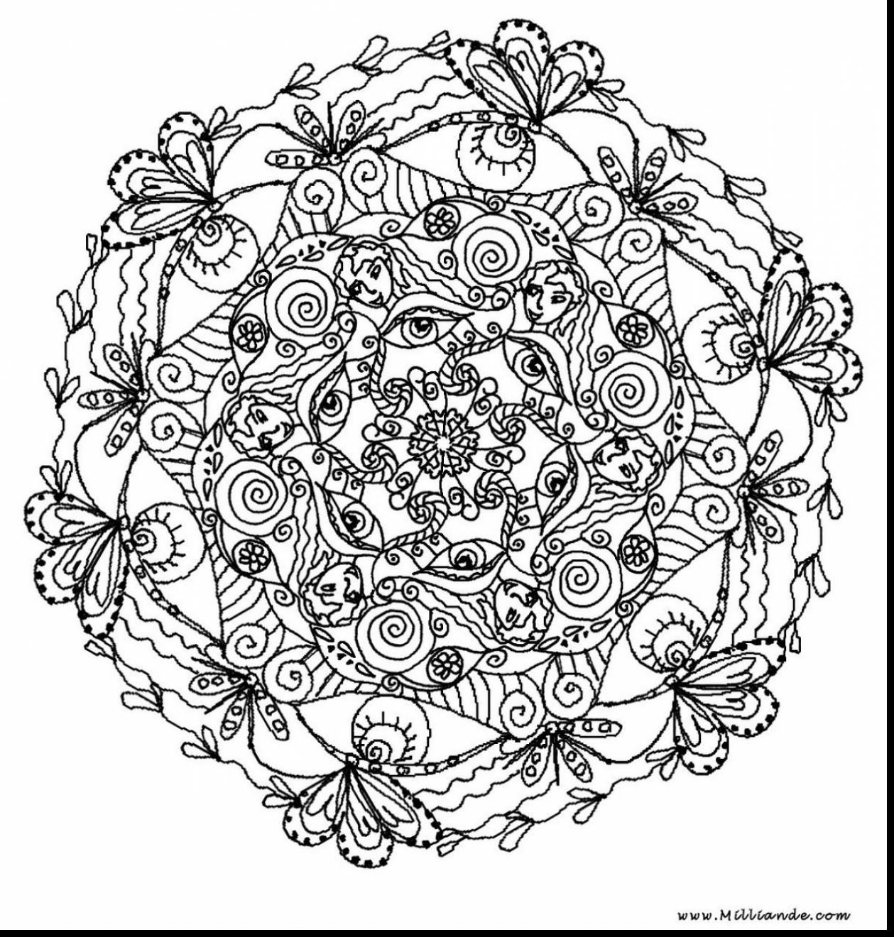 Amazing Unbelievable Printable Mandala Coloring Pages Adults With Gallery Of Free Kids