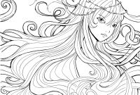 Printable Anime Coloring Pages - Anime Girls Coloring Pages Download