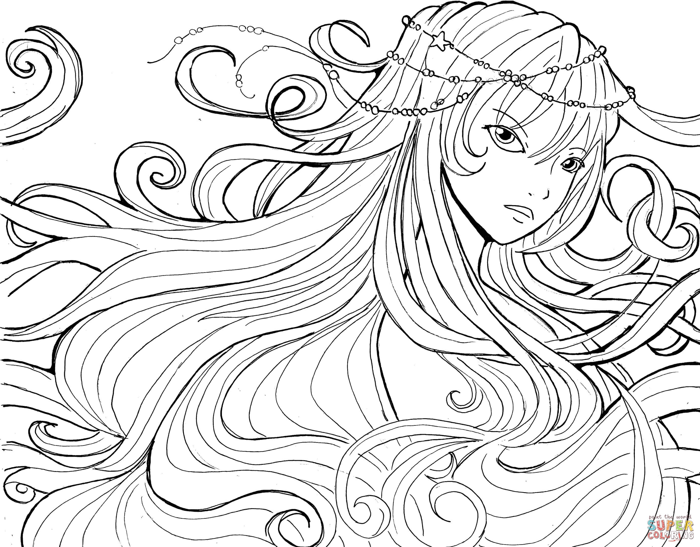 Anime Girls Coloring Pages Download – Free Coloring Sheets