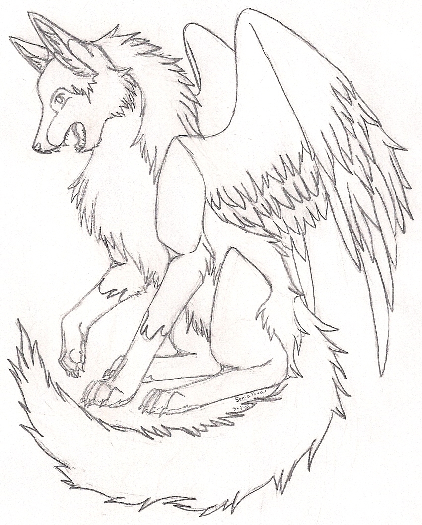 Anime Wolf with Wings Coloring Pages Printable Collection Of Wolves Coloring Pages Wolf Coloring Pages Free Coloring Pages Collection