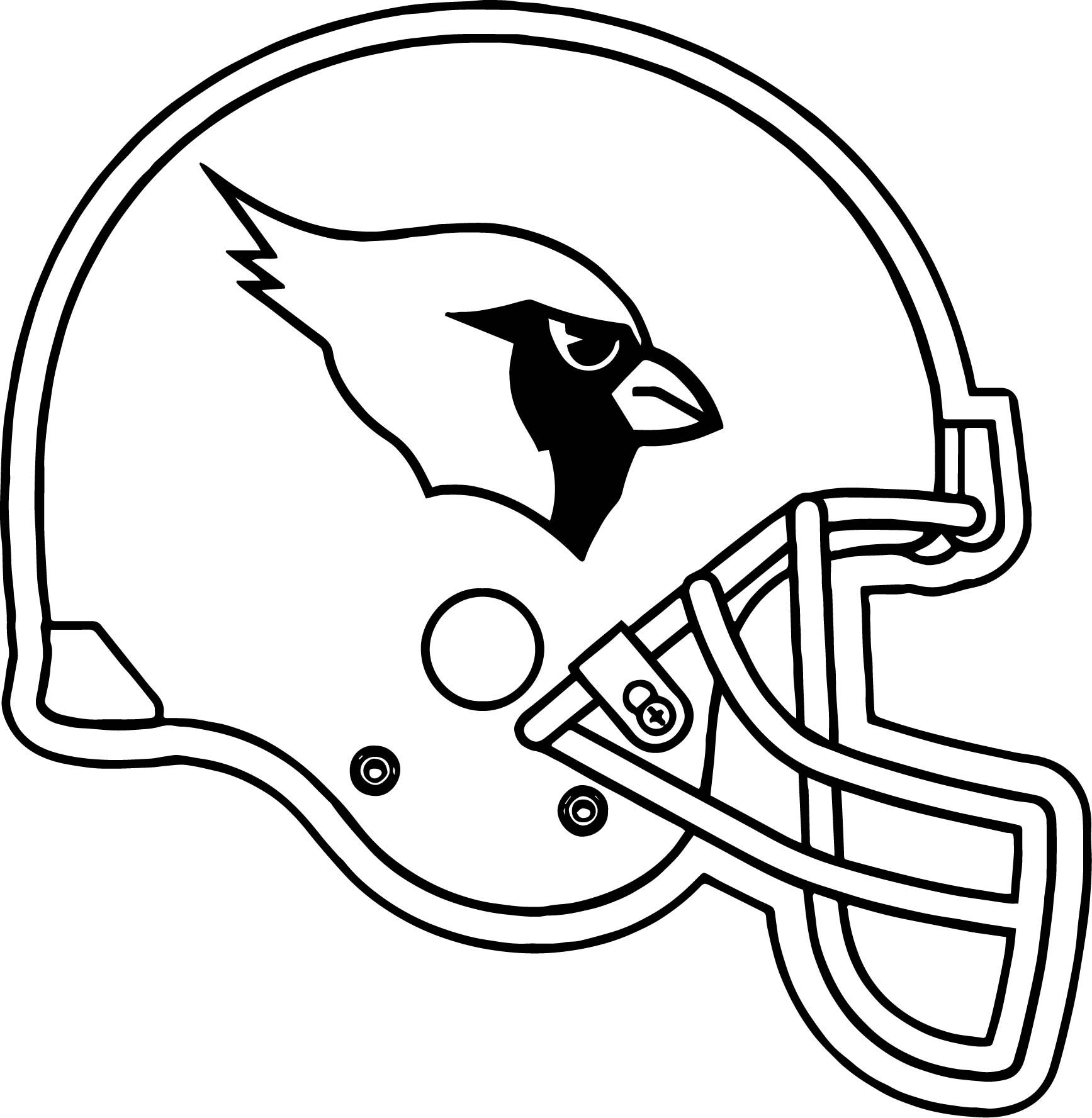 Arizona Cardinals Coloring Pages Printable 4s - Free For Children