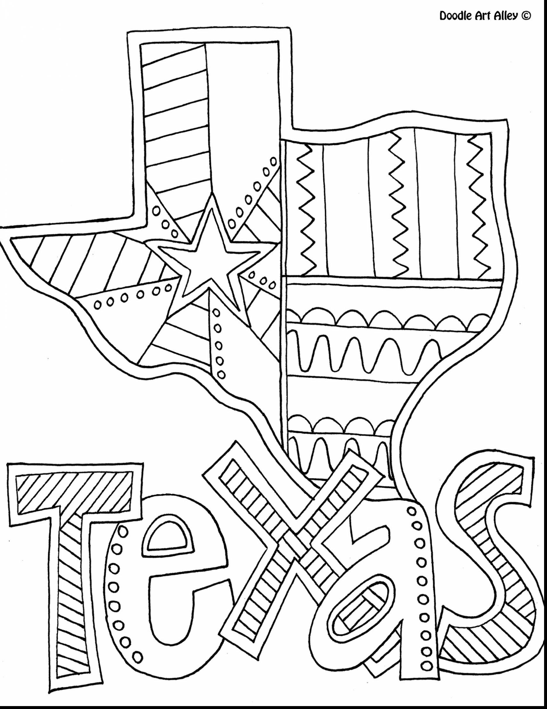 Astonishing Texas State Coloring Pages Printable with Doodle Art and Printable Of Perspective Texas Tech Coloring Pages Page to Print