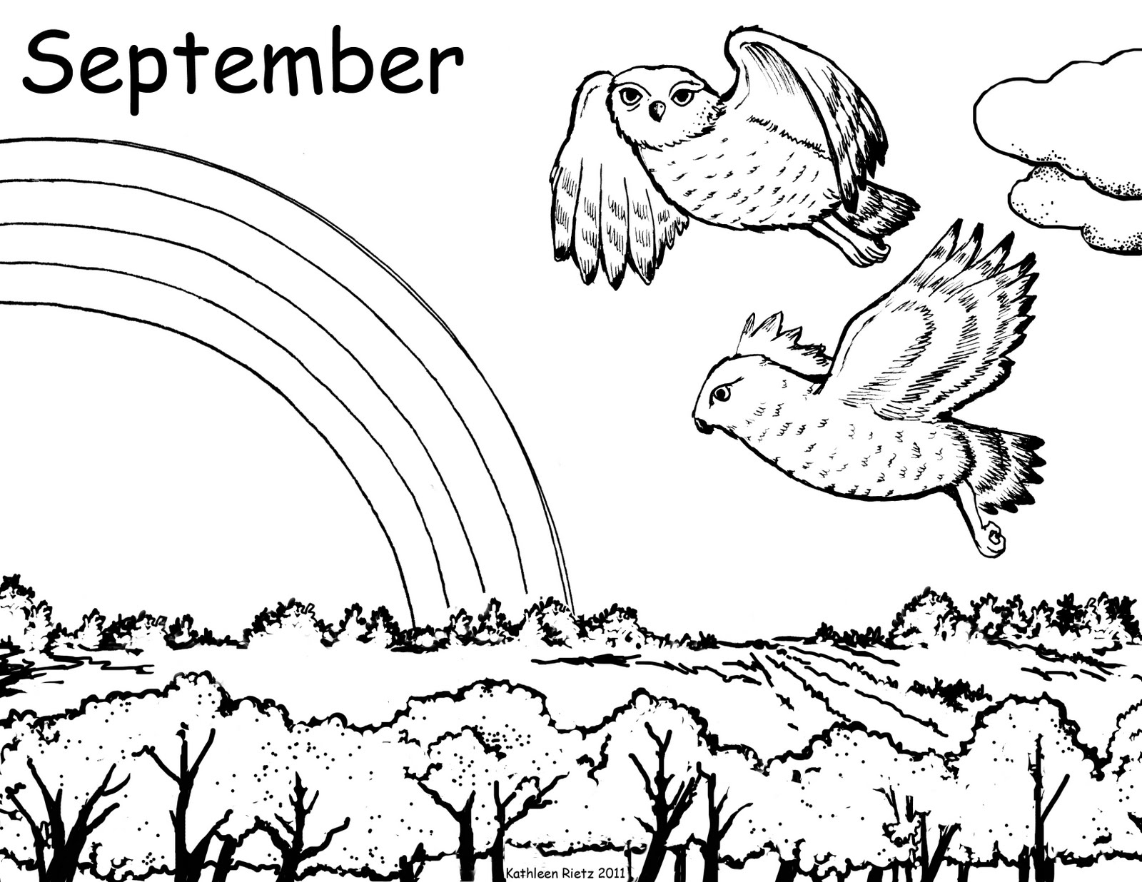 September Coloring Pages to Print Gallery 13i - Free Download