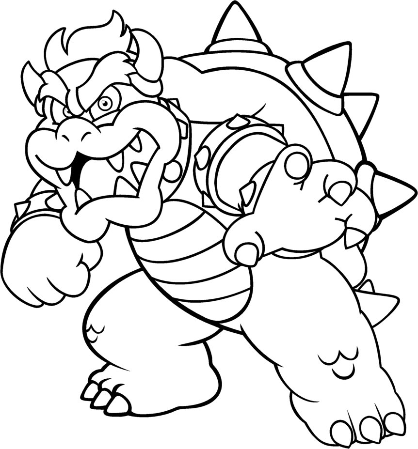 Authentic Bowser Coloring Page Pages Gallery Of Toad Mario Drawing at Getdrawings Gallery