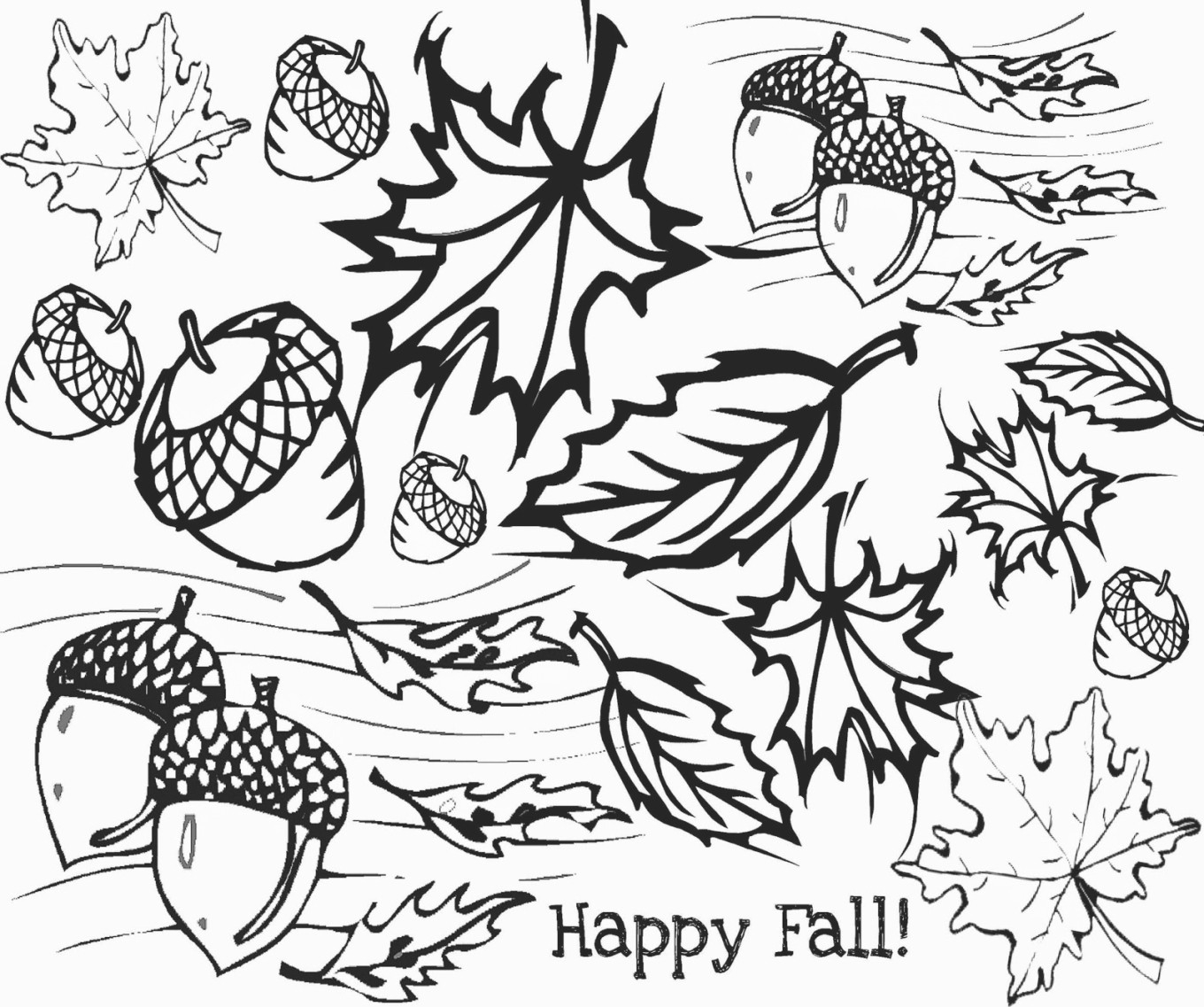 Autumn Coloring Pages Printable to Print 4o - Free For Children