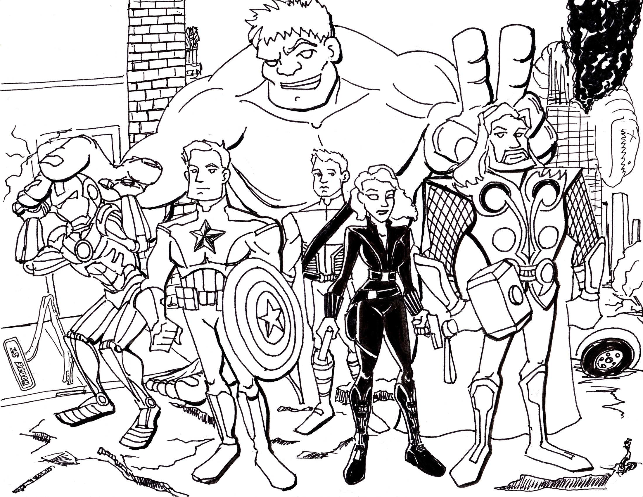 Avengers Captain America Coloring Page Free Printable Pages