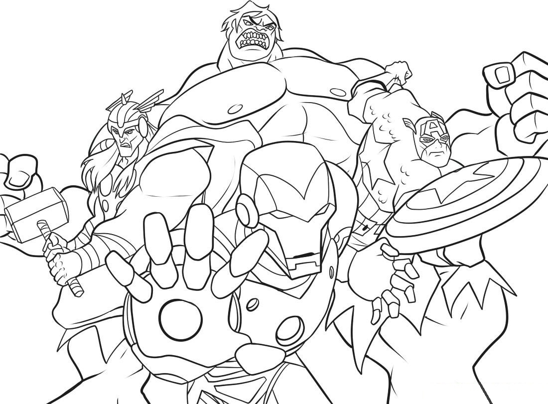 Printable Avengers Coloring Pages to Print 2l - Free For kids