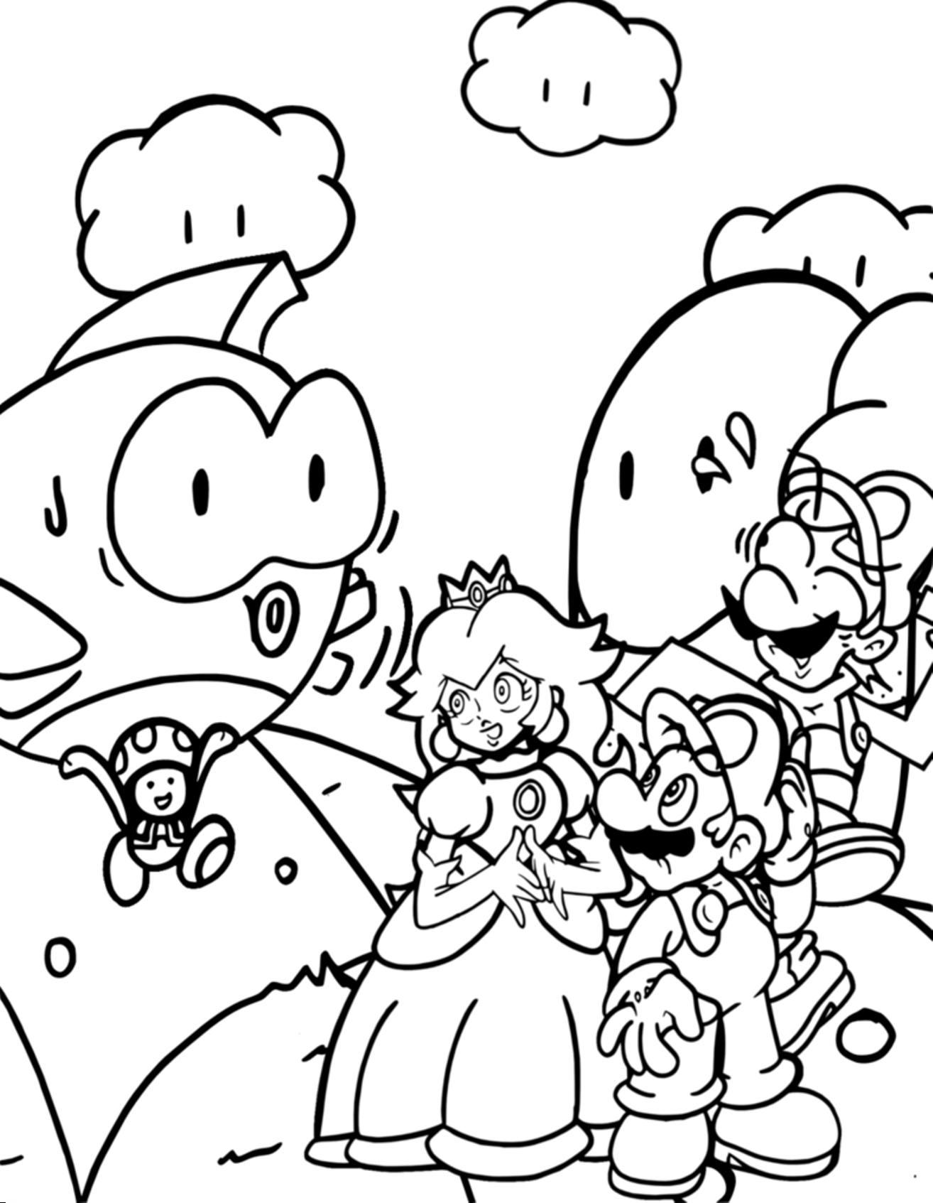 Awesome Coloring Pages Mario Printable In Pretty Free Printable Collection Of Toad Mario Drawing at Getdrawings Gallery