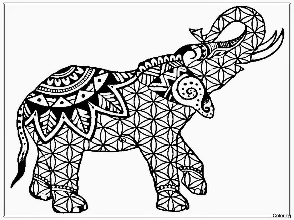 Awesome Elephant Mandala Coloring Pages 20 16 3f Adult For Adults Collection Of Elephants