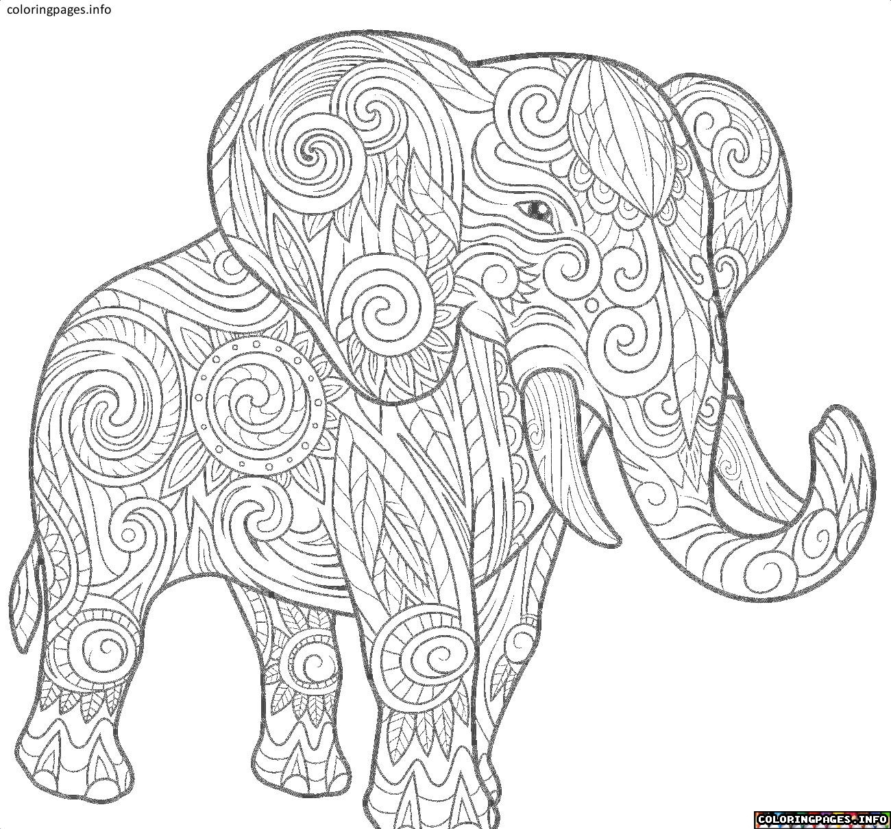 Elephant Mandala Coloring Pages Collection 7l - Free Download