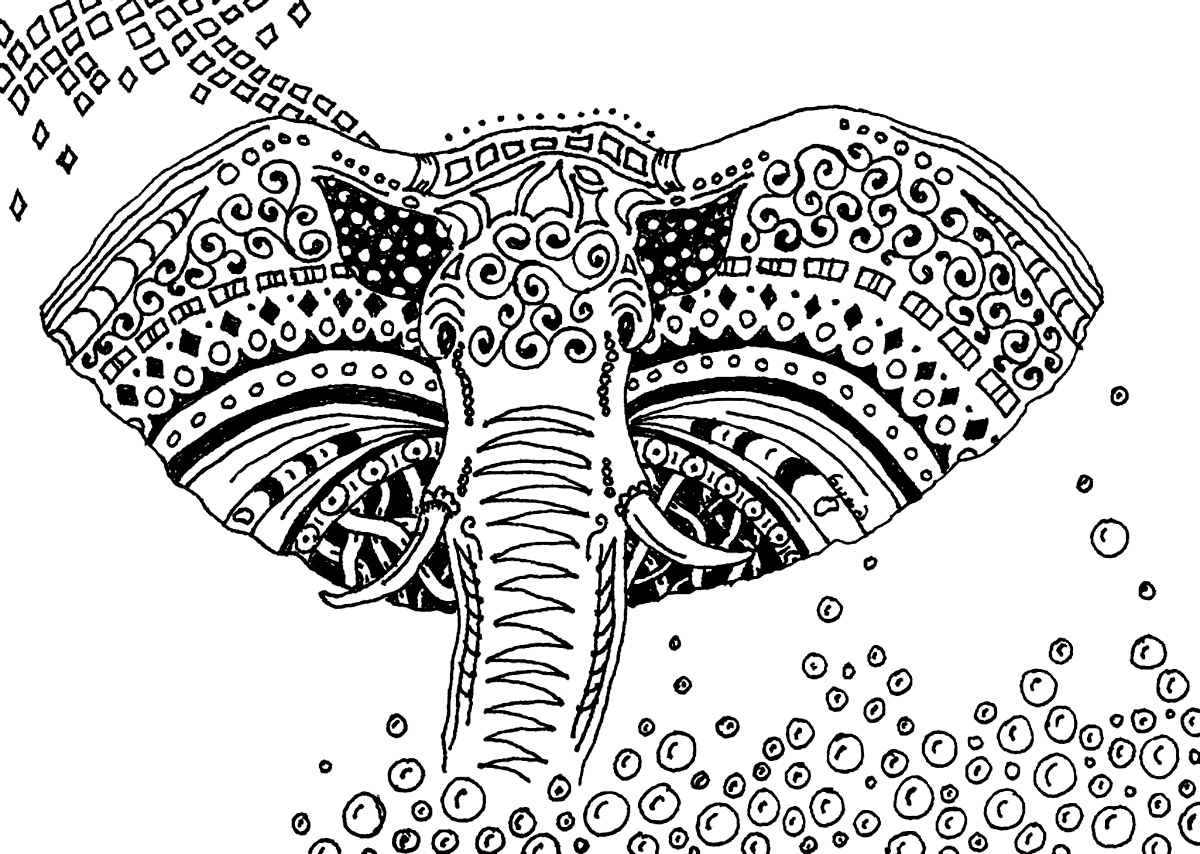 Elephant Patterns Elephants Coloring Pages for Adults Gallery – Free ...