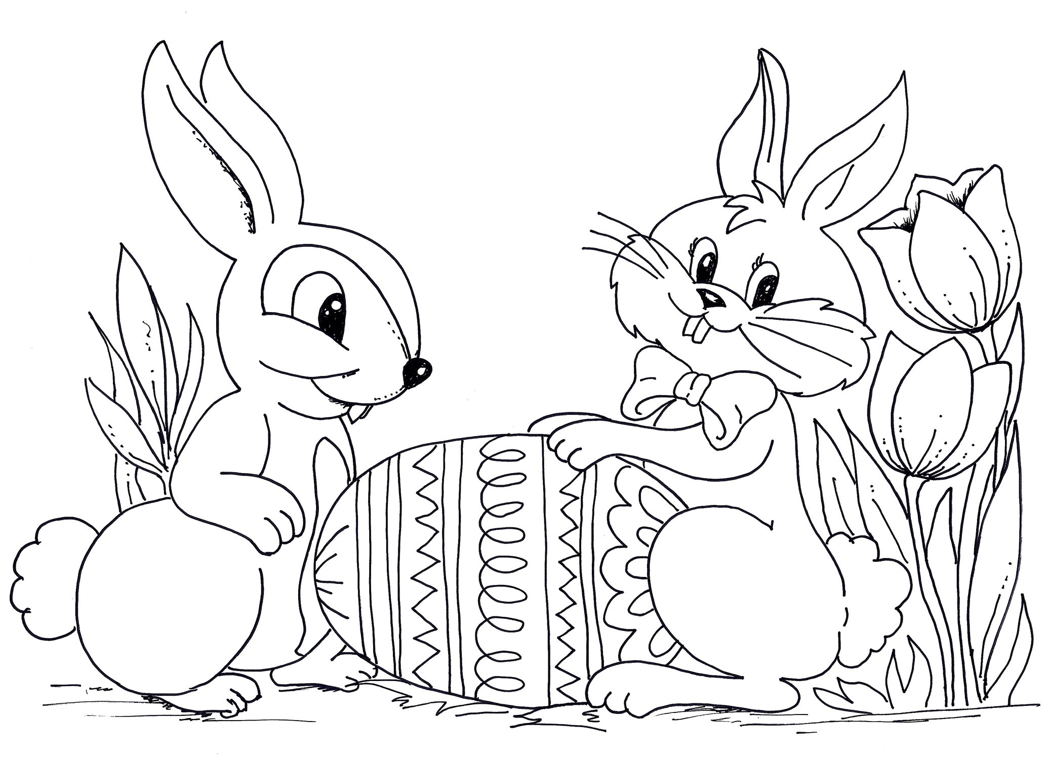 Awesome Rabbit Zentangle Coloring Page Art Pinterest Collection Of Remarkable Realistic Bunny Coloring Pages Rabb Unknown Download