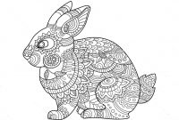 Coloring Pages Of A Rabbit - Awesome Rabbit Zentangle Coloring Page Art Pinterest Free Coloring to Print