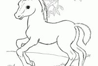 Coloring Pages Of Horses - Baby Horses Coloring Pages Horse and Foal Page Free Printable to Print