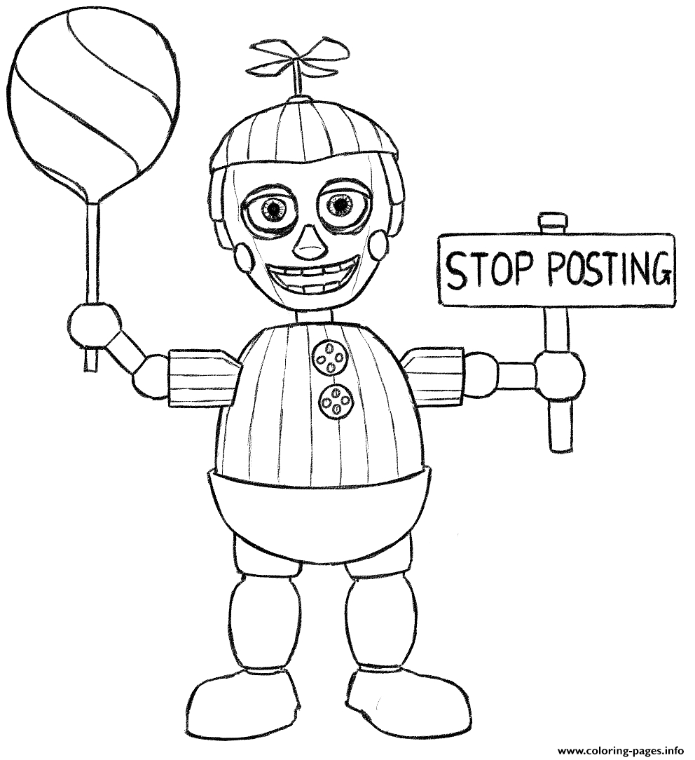 Fnaf Printable Coloring Pages to Print 12s - Free Download