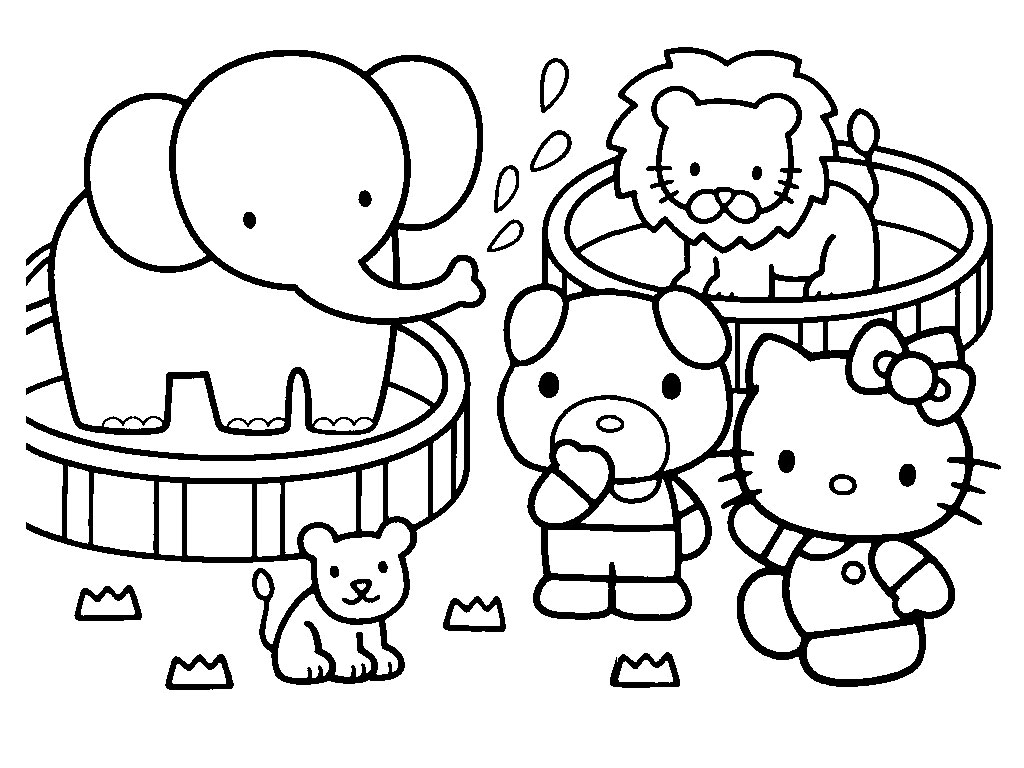 Bargain Coloring Pages Hello Kitty Beautiful Looking Free Printable Gallery Of Proven To Print