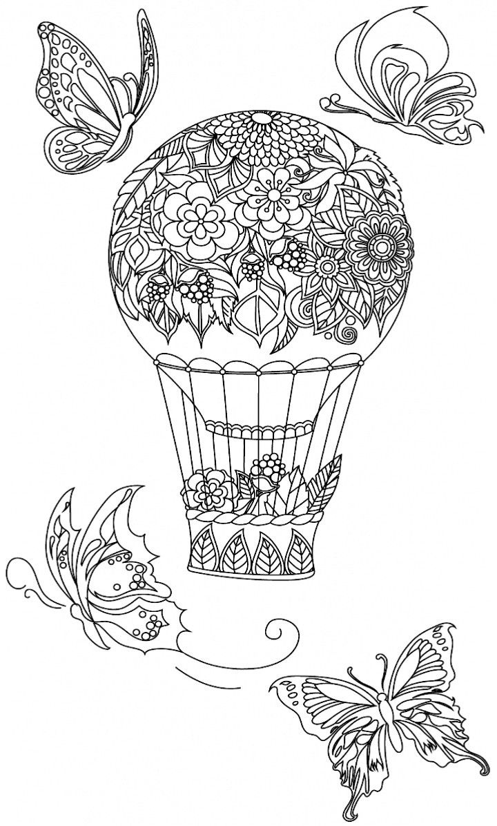 Beautiful 63 Best Hot Air Balloon Coloring Pages for Adult Gallery Of Hot Air Balloon Coloring Page Collection