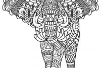 Elephant Mandala Coloring Pages - Best Animal Mandala Coloring Pages Collection Printable